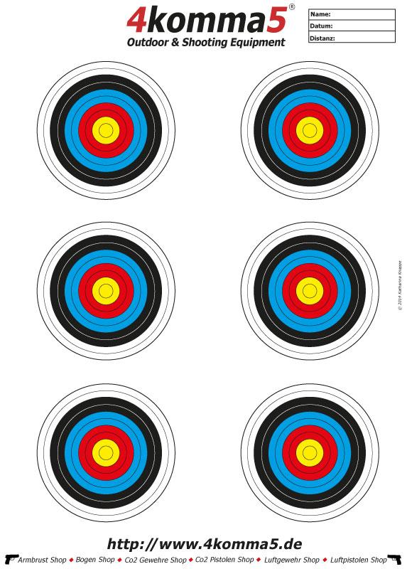 Zielscheiben zum Ausdrucken für Luftgewehr und Luftpistole