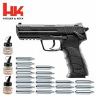 Superset Heckler & Koch HK45 Co2-Pistole 4,5 mm Stahl BB (P18)