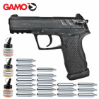 Superset Gamo C-15 Co2 Blowback Pistole 4,5 mm Diabolo / Stahl-BB (P18)