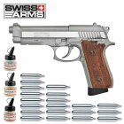 Superset Swiss Arms SA92 Fullmetal Co2 Pistole Blow Back 4,5 mm BB (P18)