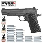 Superset Swiss Arms 1911 TRS Vollmetall BAX System Co2 Pistole Blowback 4,5 mm BB (P18)