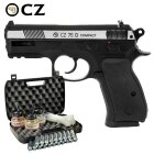 Kofferset CZ75D Compact 4,5 mm Stahl BB Dual Tone Co2 Pistole Non Blow Back (P18)