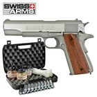 Kofferset Swiss Arms SA1911 Seventies Fullmetal Co2 Pistole Blow Back 4,5 mm BB (P18)