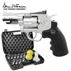 Kofferset Co2 Revolver Dan Wesson 2,5 Silber 4,5 mm Diabolo (P18)