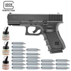 Superset Umarex Glock 19 Co2-Pistole Kaliber 4,5 mm Stahl BB (P18)