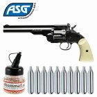 SET Co2 Revolver ASG Schofield 6 Plated Steel 4,5 mm Stahl BB (P18)