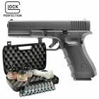 Kofferset Glock 17 Gen4 Co2-Pistole Kaliber 4,5 mm Stahl BB Blowback (P18)