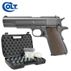 Komplettset Colt 1911 A1 Vollmetall Softair-Co2-Pistole Kaliber 6 mm BB Blowback (P18)