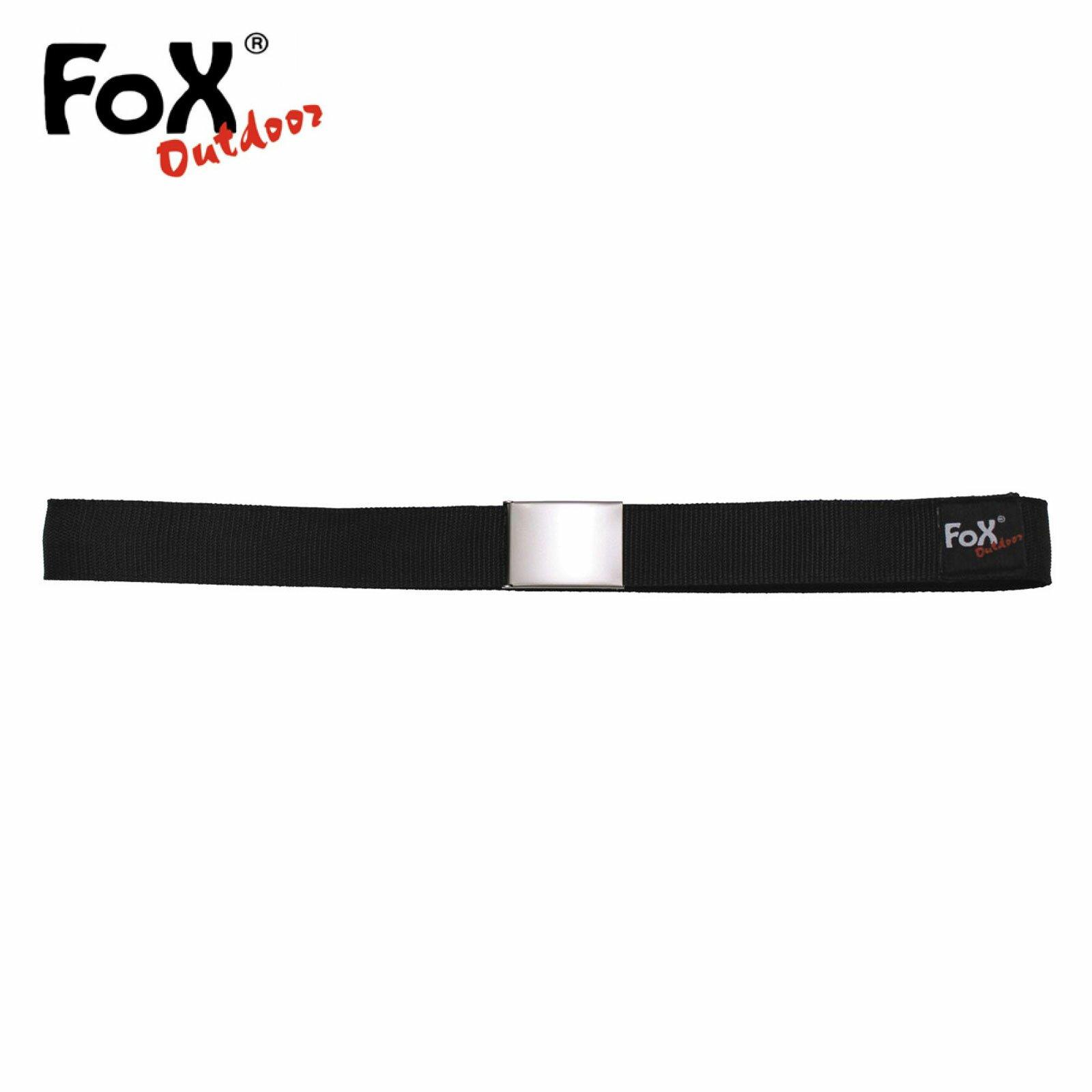 Fox Outdoor Gürtel mit Innenfach Schwarz