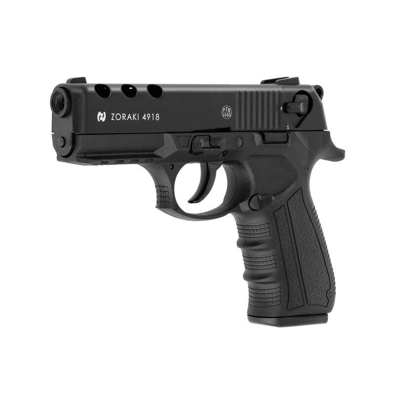 Set Zoraki 4918 Schreckschuss Pistole Bruniert 9 Mm P A K P18