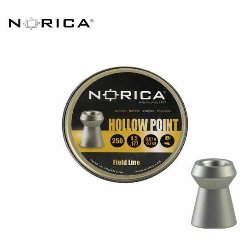 Norica Hollow Point Hohlspitzkopfdiabolo 5,5 mm 250er Dose