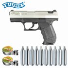 Luftpistolenset Walther CP99 nickel 4,5 mm Diabolo CO2-Pistole (P18)