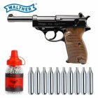 Luftpistolenset Walther P38 - 4,5 mm Stahl BB Blow Back Co2-Pistole (P18)