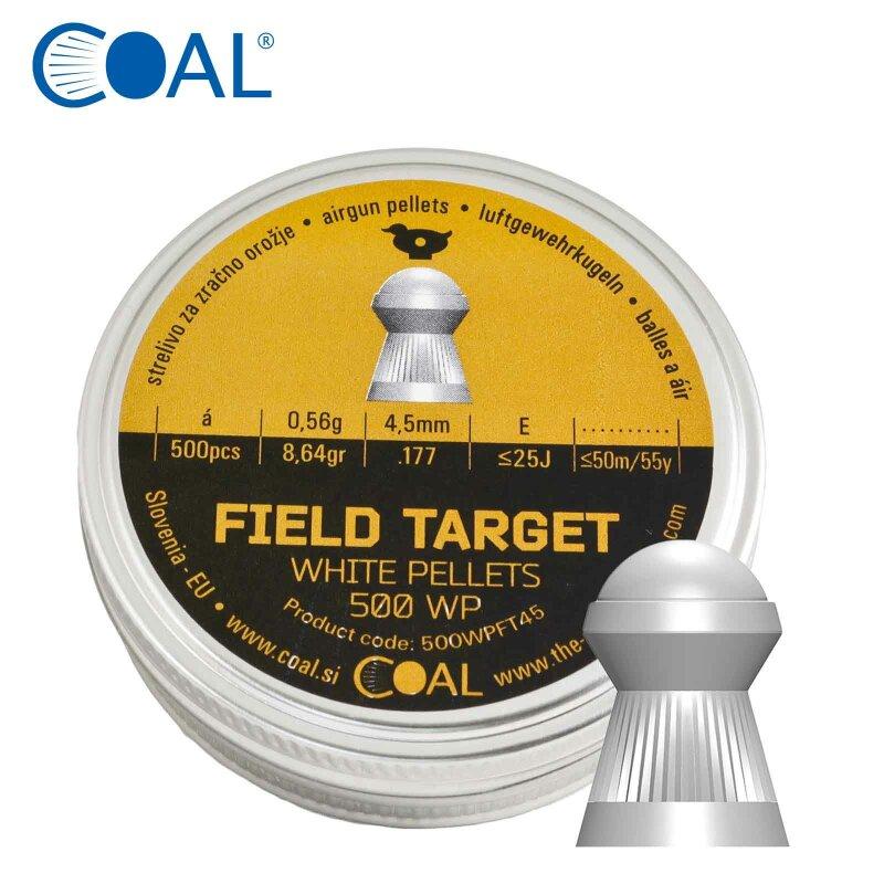 COAL White Pellets - Field Target Pellets - Kopfmaß 4,50 mm