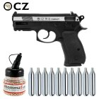Luftpistolenset CZ75D Compact 4,5 mm Stahl BB Dual Tone Co2-Pistole Non Blow Back (P18)